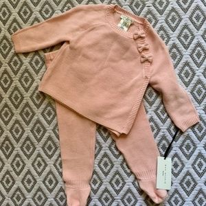 Max Studio Baby Pink Bow Sweater Set
